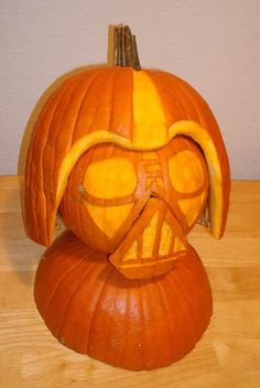 Darth pumpkin. I need this next to the Death Star pumpkin.