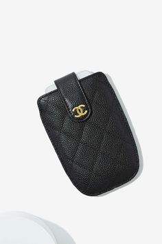Vintage Chanel Quilted Leather Phone Case #chanel