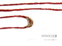 Camelot'e, pacotille necklace (detail)  Thread & Gold