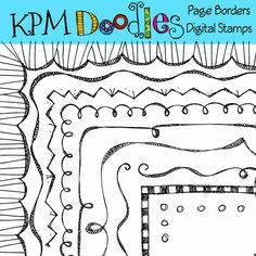A fun set of page borders in black and white. Full and pages png and jpegs! All hand drawn by me in and then digitally formatted for a clean crisp Bible Crafts For Kids, Kids Bible, 3rd Grade Art, Grade 3, Page Borders, Decorative Borders, Painted Sticks, Scrapbook Pages, Scrapbook Layouts
