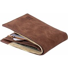"Classic Brown Leather Wallet. A classic brown leather wallet. A good choice for everyone.  Interior: Interior compartment, zipper poucht, interior zipper pocket, interior slot pocket, coin pocket, note compartment, card holderItem Height: 0.59"" (1.5 cm)Material: Leather, polyester Item Length: 4.33"" (11 cm)Item Width: 3.35"" (8.5 cm)Item Weight: 1.76 oz (50 g)"