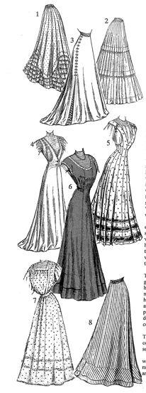 Dresses  Reference Book of Women's Vintage Clothing: 1900-1909