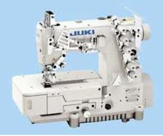 JUKI MF-7700U10 (universal type)  High-speed, Flat-bed, Top and Bottom Coverstitch Machine  This MF-7700U10 is a flat-bed coverstitch machine which can apply a broad range of sewing processes such as the hemming of sleeves and bottoms of T-shirts and coverstitching sportswear and knitwear.