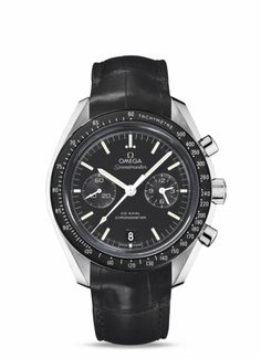 OMEGA Watches: Speedmaster Moonwatch Omega Co-Axial Chronograph - Steel on leather strap - 311.33.44.51.01.001