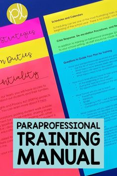 Need ideas to train paraprofessionals? This free video and handouts will walk you through the process to prepare for training support staff in your classroom. From Positively Learning Blog #paraprofessional #specialeducation #paraeducator