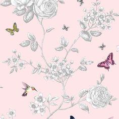 Grandeco Rose Garden behang A14604 Rozen & Vlinders