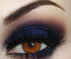 Navy blue smoky eye. Is this too much for wedding/bridal make-up? Because I LOVE it!! If past lives existed, I would have been a drag queen for sure.