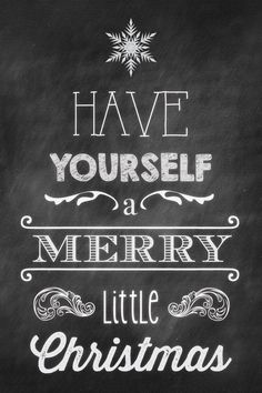 Have Yourself A Merry Little Christmas | WRAPPED CANVAS PRINT  This canvas is a modern and stylish addition to your holiday decor! This print will arrive stretched and ready to hang.
