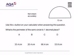 Circumference and Area Free Quizzes, Math Quizzes, Gcse Math, Maths, 1 Decimal Place, Aqa, Brain, Knowledge, This Or That Questions