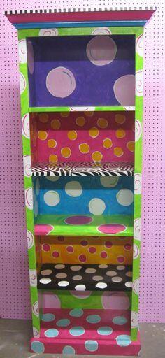 hand painted bookshelves for a classroom | ... bookshelves kids room girls room kid rooms book shelves funky