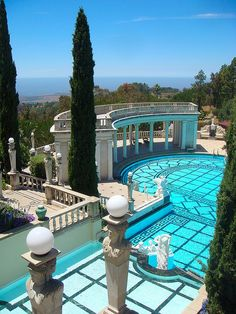 Hearst Castle outdoor pool...Oh, I've been here and LOVED it!  Not only beautiful, but so very intriguing!