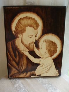 Handmade Catholic Wood-Burning Art.