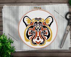 This item is unavailable Cross Stitch Sea, Cross Stitch Charts, Colorful Animals, Modern Cross Stitch Patterns, Mandala Coloring, Cross Stitching, Embroidery Patterns, Handmade Gifts, Safari