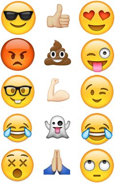 Emoji Iphone Emoticons Cupcake Edible Icing Image Topper 15