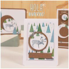 Tarjetas Navideñas realizadas con la técnica del decoupage. Paper Design, Place Cards, Place Card Holders, Ideas, Diy, Xmas, Merry Christmas Card, Cards, Creativity