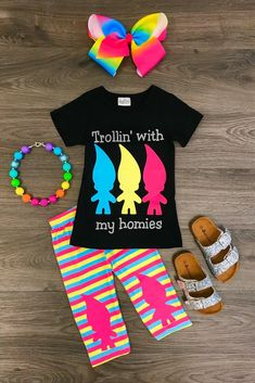 """""""Trollin with My Homies"""" Boutique Set"""