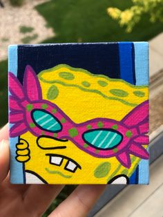Small Canvas Paintings, Easy Canvas Art, Small Canvas Art, Cute Paintings, Mini Canvas Art, Acrylic Painting Canvas, Canvas Painting Designs, Disney Canvas Art, Disney Paintings