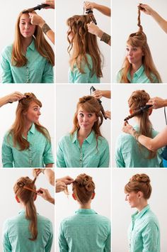 An updo from the '50s... with a modern twist!