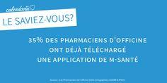 [Le saviez-vous ?] E-santé : 35% des pharmaciens d'officine ont déjà téléchargé une application de m-santé.