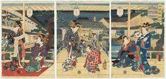 Beauties in the Yoshiwara, 1861 by Kunisada II (1823 - 1880)