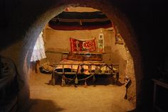 The bedroom of an old Harran beehive house