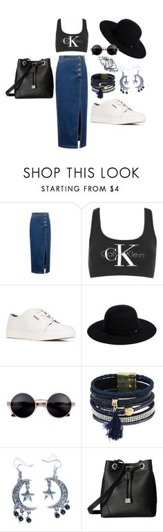 Sans titre #233 by amystyles-i on Polyvore featuring mode, WithChic, Calvin Klein, Fad Treasures, Bling Jewelry and Siggi