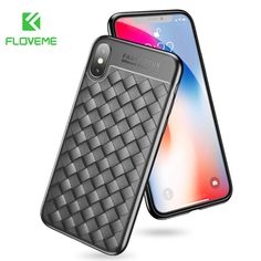FLOVEME Woven Soft Case For iPhone X 10 Silicone Cool Phone Case For iPhone  6s 6 Plus 7 8 Plus Cover Phone Bag Cases Accessories 8eb22347b404e