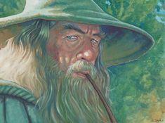 eatsleepdraw: Gandalf Gouache on Aquabord Animal Crackers Movie, O Hobbit, Minimal Poster, Jrr Tolkien, Gandalf, Cool Artwork, Amazing Artwork, Lord Of The Rings, Online Art Gallery