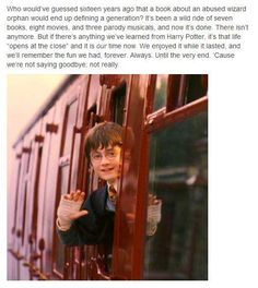 Excuse me while I relapse into Post Potter Depression.... again