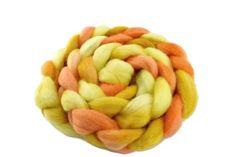 Corriedale Wool Sliver Hand Dyed for Felting and Spinning in Lemon Sorbet 12404 Lemon Sorbet, Felting, Spinning, Dog Food Recipes, Fiber, Yellow, Wool Felt, Vibrant, Amp
