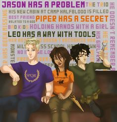 The Lost Hero by Rick Riordan - The Heroes of Olympus series Percy And Annabeth, Annabeth Chase, Percy Jackson Books, Percy Jackson Fandom, The Lost Hero, Olympus Series, Oncle Rick, Frank Zhang, Piper Mclean