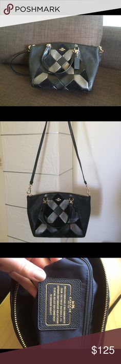 Coach grey/silver quilted satchel Beautiful crossbody or shoulder bag, quilted design with gold detail and with plenty of space inside. Comes with dust bag. Coach Bags Satchels
