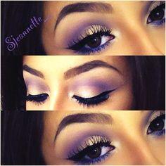Purple eyeshadow look - love it.