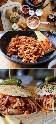 Vegan Pulled Jackfruit Burger   Zucker&Jagdwurst