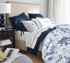 Sailboat Toile Print Duvet Cover & Sham #potterybarn