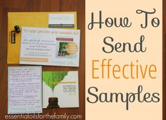 Five things you MUST include as you package and send essential oil samples!