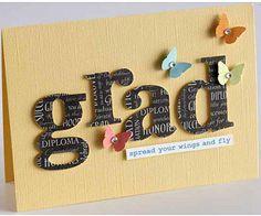 Easy Graduation Cards and Invitations: Blooming Grad Invite