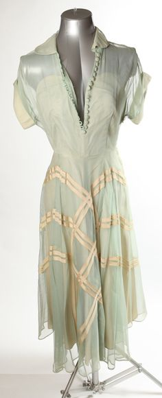 1940's Mint Green Dress. $80.00, via Etsy.