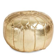 The Moroccan Leather Pouf
