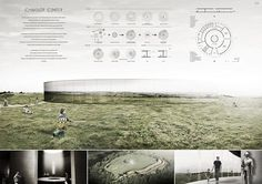 Projects presented to the Camelot Research Visitors Center International Architecture Competition for Students Organized by ARCHmedium Architecture Antique, Architecture Panel, Architecture Graphics, Architecture Student, Architecture Drawings, Architecture Design, Architecture Diagrams, Architecture Presentation Board, Presentation Layout