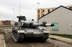 An old girl in new clothes. One of the few AMX-30B2 kept by the French Army for OPFOR training