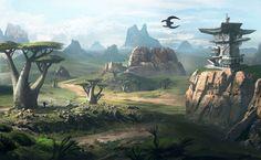 Environment Concept Art HD Wallpaper