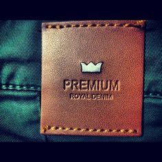 PREMIUM ROYAL DENIM: Garra, Tag Design, Label Design, Graphic Design, Patched Jeans, Denim Jeans, Leather Label, Denim Branding, Fashion Tag