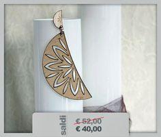 wood earrings laser cut di Kajsi, orecchini in plexiglass e legno su DaWanda.com