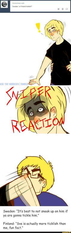 Sniper reaction: KYYNERPÄÄT!!! No toi on kyl mun reaktio ku mun pikkuveli yrittää ees koskee muhun (sil ei oo koskaan mitään hyvää mielessä)