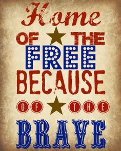 Red, White & Blue - Free Summer Printables - of july printable 4th Of July Party, Fourth Of July, July Quotes, July 4th Sayings, I Love America, Let Freedom Ring, July Crafts, Patriotic Crafts, Patriotic Images