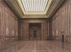 The Mosaic Hall of the new Reich Chancellery, Voßstraße, Berlin, Germany, 1939. Designed by Albert Speer. AKG Images.