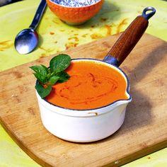 Soupe de tomate et poivron au paprika