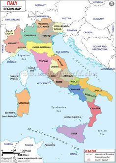 Italien Karte Regionen (Landkarte Italien) This specific wild planet offers moved the supplies directly into Map Of Italy Cities, Map Of Italy Regions, Italy Map, Italy Travel, Turin, Emilia Romagna, Sicily Italy, Verona Italy, Trieste