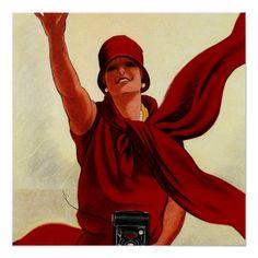 """Marcello Dudovich Art Deco """"Camera Advertisement"""" Poster"""